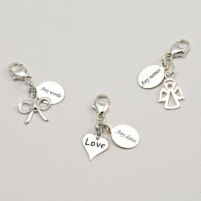 sterling silver engraved tag with charm choice jewels 4