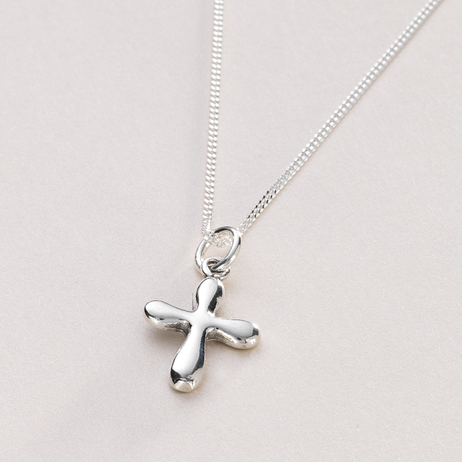 rounded cross necklace can be personalised jewels 4