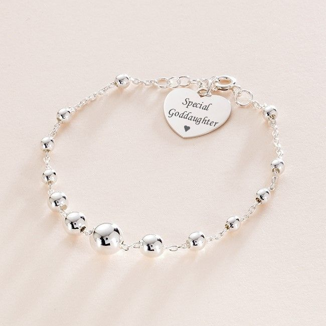 Engraved Bracelet For Special Goddaughter, Stg Silver