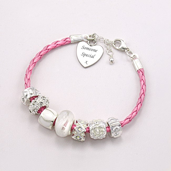 Friendship Bracelet with Charm Beads & Engraving | Jewels ...