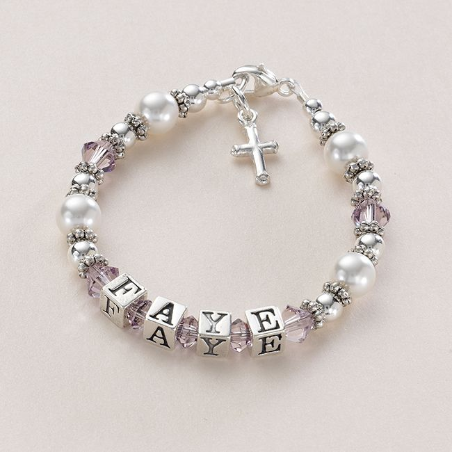 silver name bracelet with choice of charm jewels 4