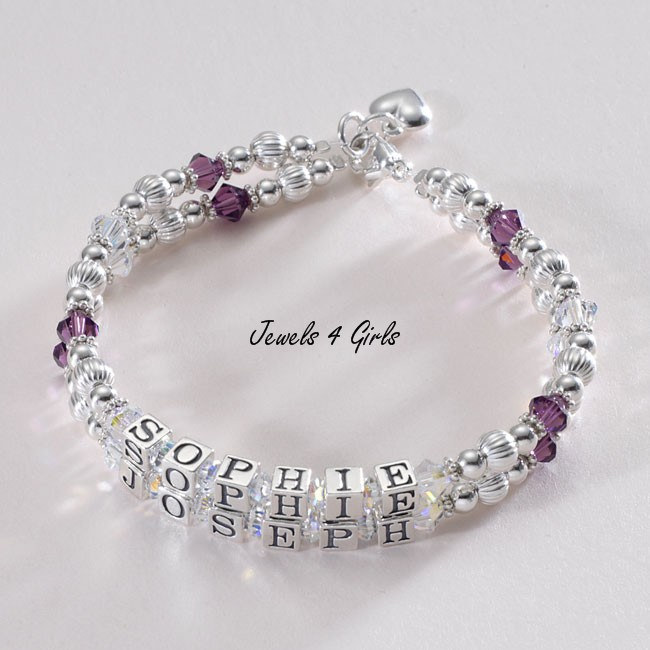 Mothers Bracelet Two Names On Two Strands Jewels 4 Girls