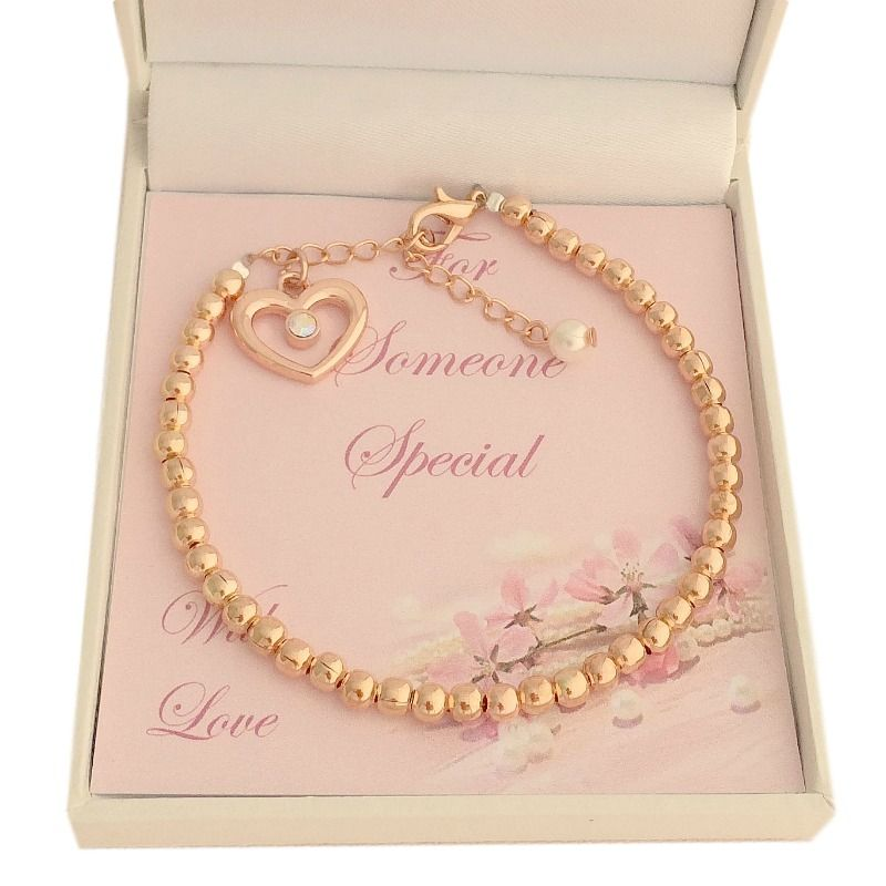 Rose Gold Bracelet with Pearl for Bridesmaid or Flower Girl | Jewels 4 Girls