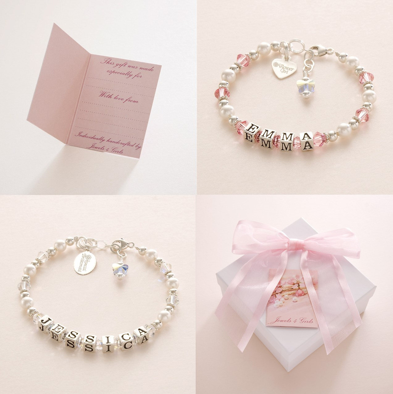 Silver Personalised Bracelets for Bridesmaids