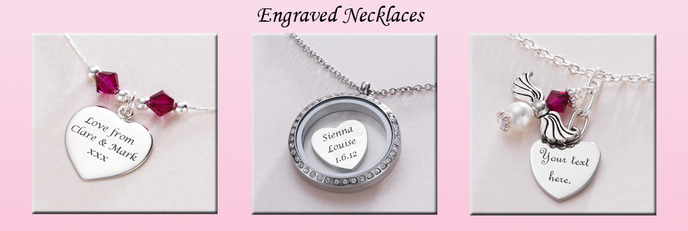 Engraved Personalised Necklaces