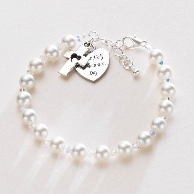 Any Engraving - First Holy Communion Bracelet | Jewels 4 Girls