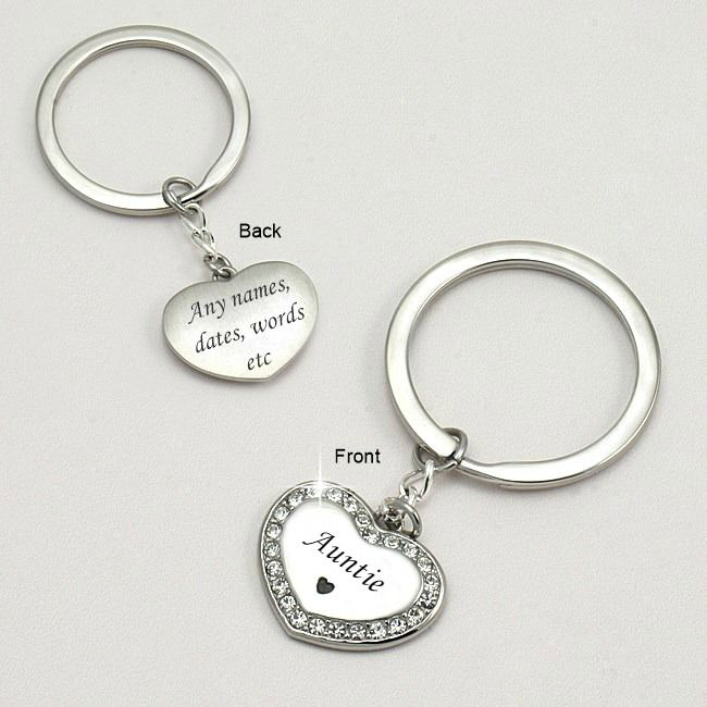 Auntie Keyring with Personalised Engraving  27000da573b4