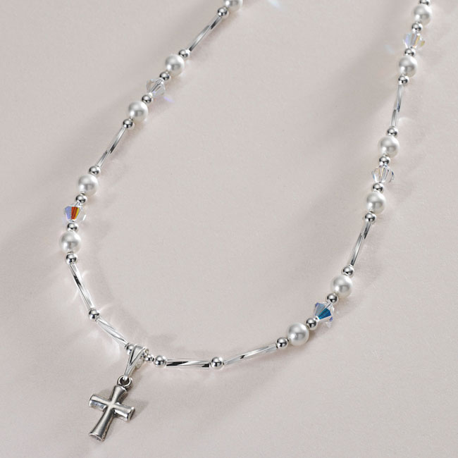 communion com or cross birthstone god silver gift dp necklace daughter confirmation initial baptism first amazon sterling