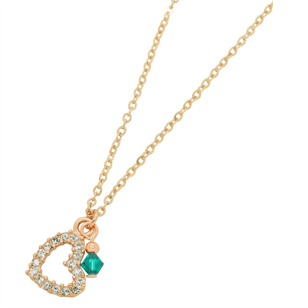 Emerald heart necklace gold