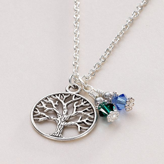 Birthstone tree of life necklace jewels 4 girls aloadofball