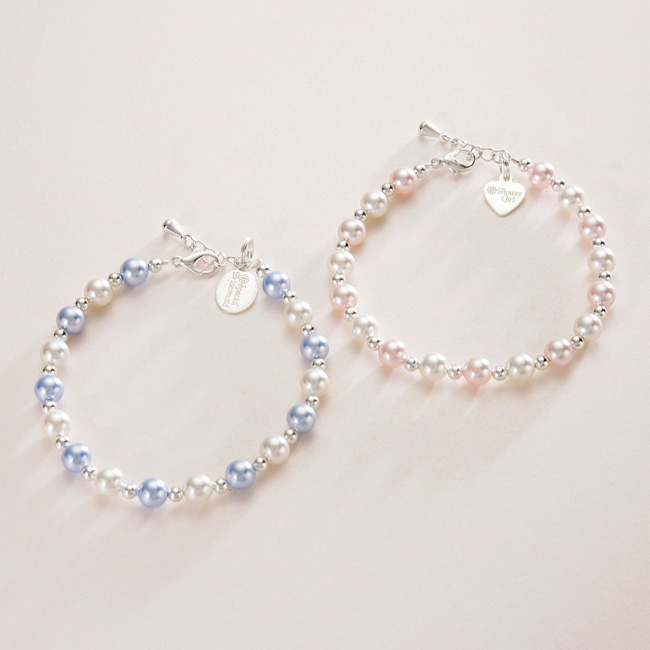 Bridesmaids Pearl Bracelet in Many Colours | Jewels 4 Girls