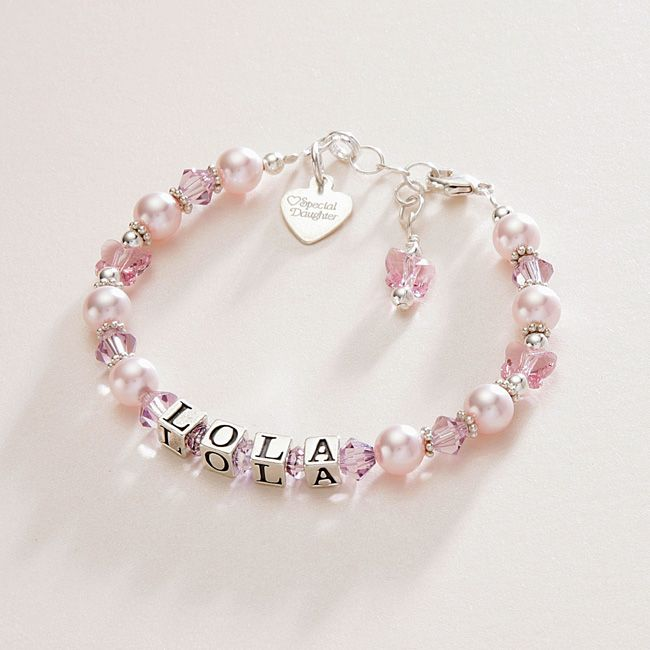 Butterfly Kisses Personalised Name Bracelet | Jewels 4 Girls