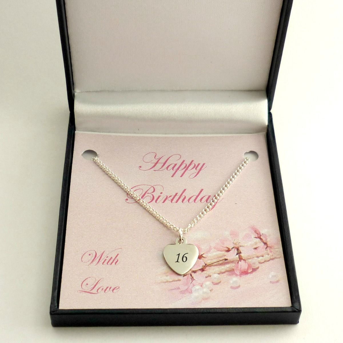 Engraved Necklace For 16th Birthday Silver Or Rose Gold