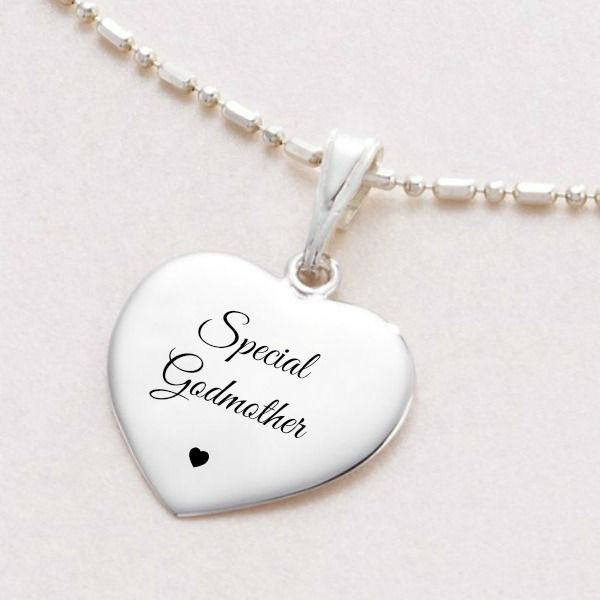 Engraved silver necklace for godmother ball link chain jewels 4 engraved silver necklace for godmother ball link chain jewels 4 girls aloadofball Gallery