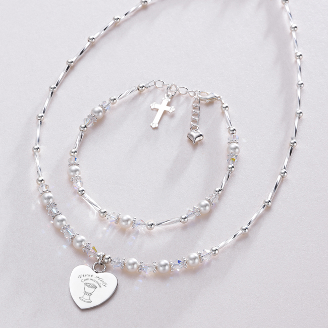 First Holy Communion Pearl & Crystal Jewellery Set | Jewels 4 Girls