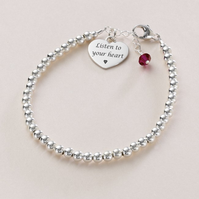 friendship bracelet with birthstone amp engraving jewels 4