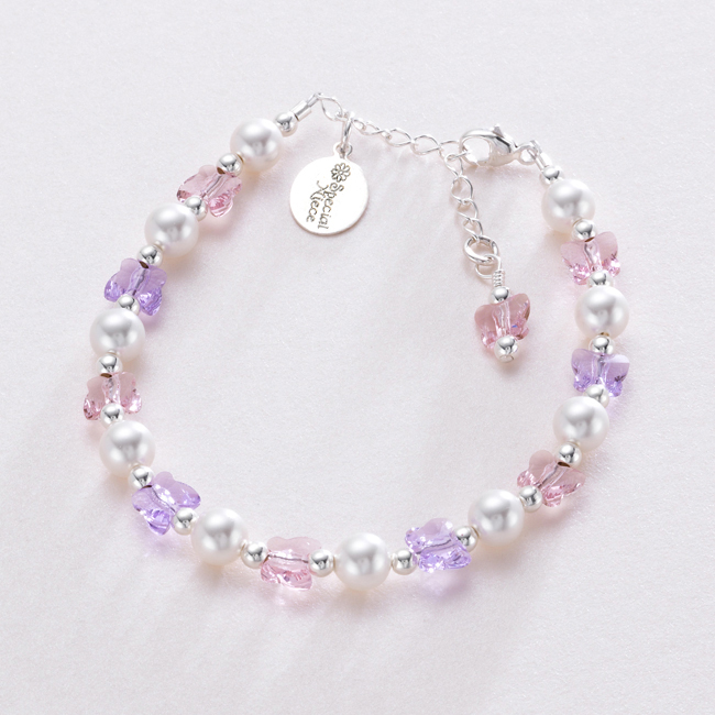 Gift for Niece - Crystal Butterflies and Pearls | Jewels 4 Girls