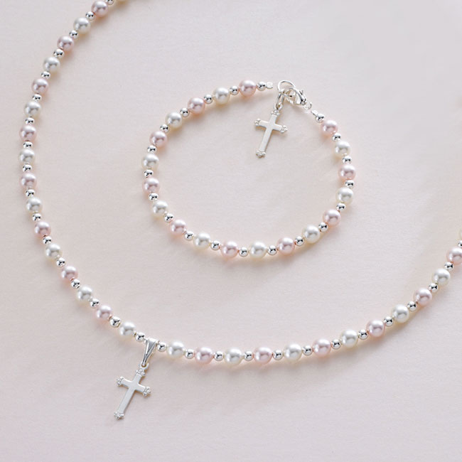 Girls or Ladies Pearl Jewellery Set | Jewels 4 Girls