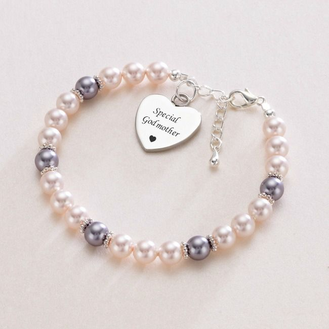Godmother Bracelet with Personalised Engraving | JEwels 4 Girls