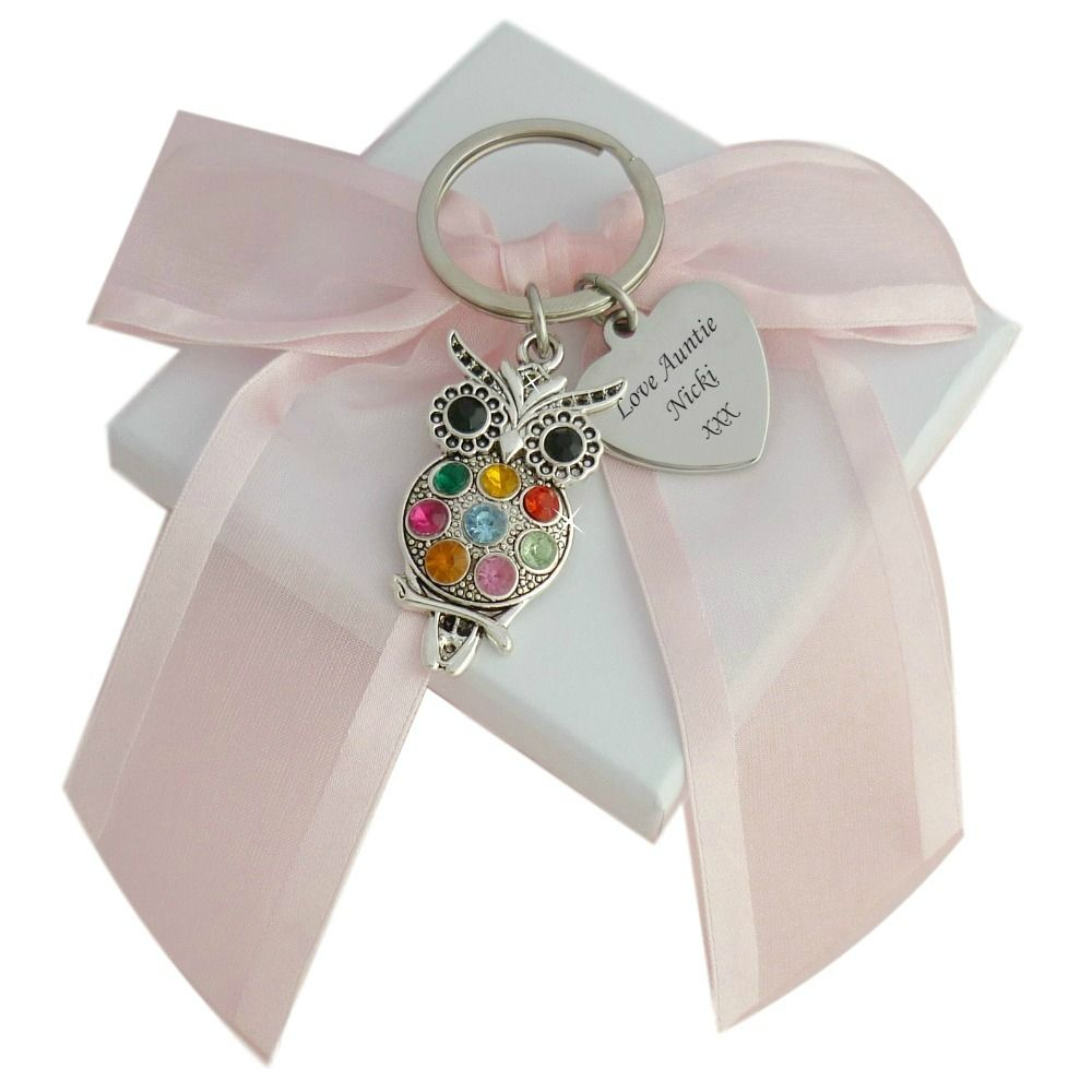 Owl Keyring with Engraving   Jewels 4 Girls