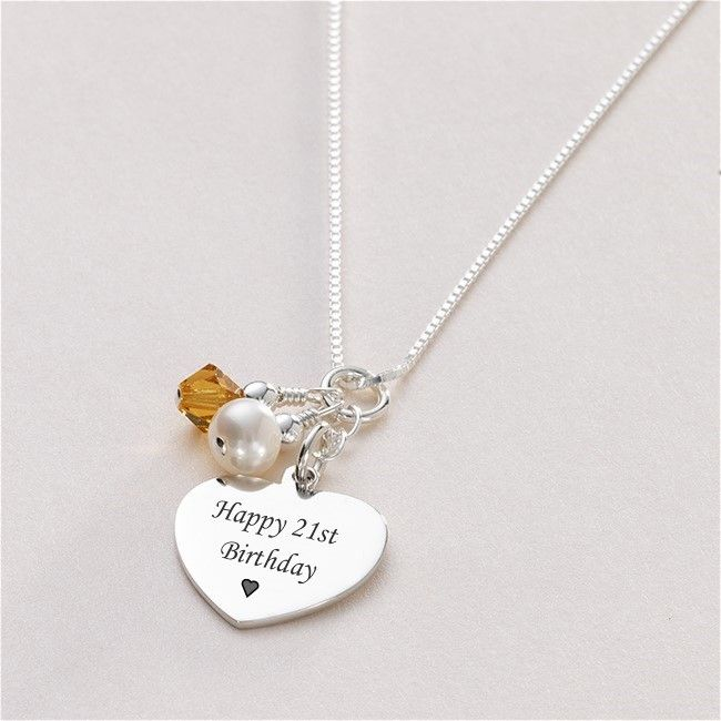 engraved birthday stamped necklace gifts friend heart item hand you i happy party love birth pendant family