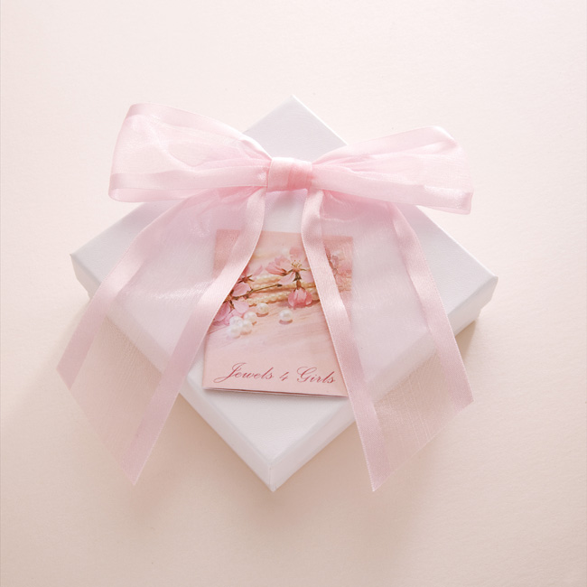 White Card Gift Box With Bow