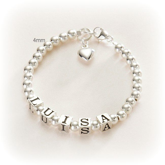 Personalised Name Bracelets in Sterling Silver | Jewels 4 Girls