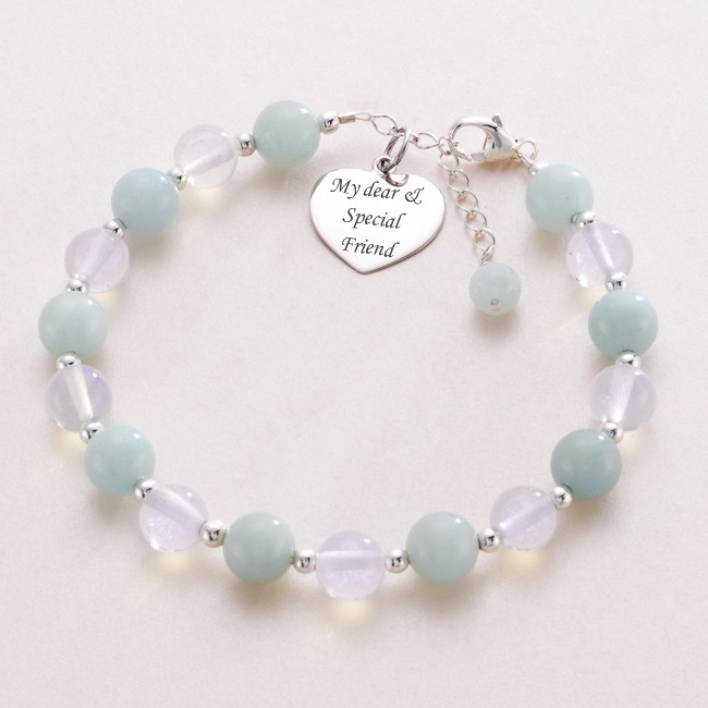 Moonstone Healing Bracelet with Engraving